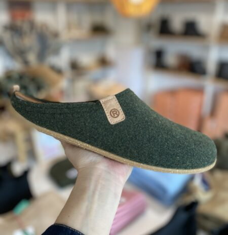 Grøn Rohde hjemmesko gummisål uld 50% genanvendeligt materiale herrer sko dame sko futter hyggelige sko behagelige Recycled Cactus sko Herren 6929 1,5 cm hæl