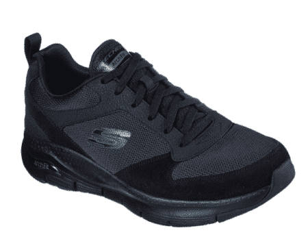 Skechers sneakers sort med sort sål