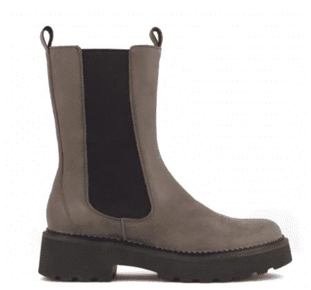 325011 Green Comfort Taupe Brun støvle elastik plateau boots Nordsko Hune Blokhus