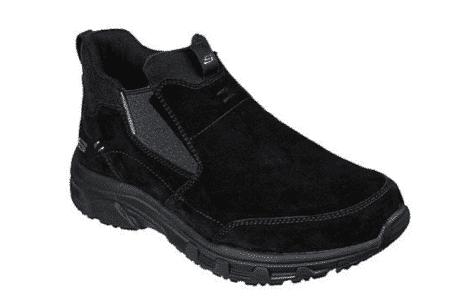 Skechers 237283/bbk sneakers støvle herre sko Mens Oak Canyon sort black ruskind pels water repellent memory foam Nordsko Hune Blokhus