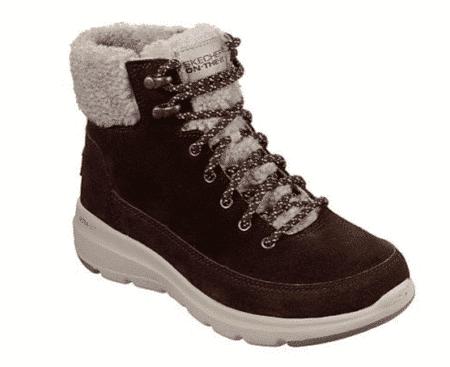 16677/CHOC Skechers Støvler støvle med foer chocolate women's damestøvle On the go Glacial Ultra Woodlands Nordsko Hune Blokhus